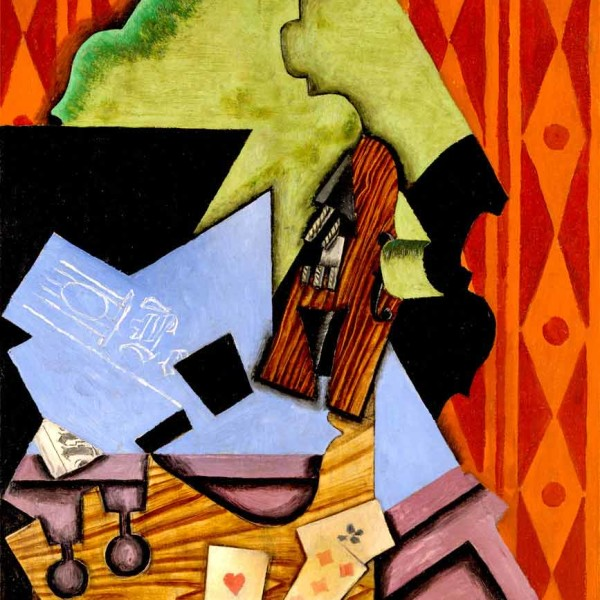 Juan Gris - Violin and playing cards